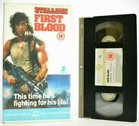 Rambo 1 First Blood - Iconic Sleeve Art - Stallone - Original 1988 - Guild - VHS