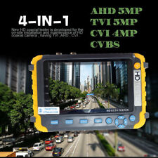 "4in1 Tester Monitor TVI CVI AHD VGA CVBS Security CCTV Camera Test 5"" HD upto5MP"