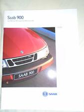 Saab 900 range brochure 1995 UK market