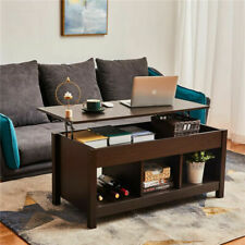 High Quality Lift Top Dining Coffee Table w/ Hidden Storage Compartment & Shelf