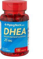 DHEA 25 mg Piping Rock -180/360 Tabletten (dehydroepiandrosterone) EXP 2022