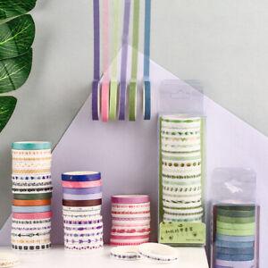 20Rolls/Set Adhesive Scrapbooking Album Stickers Washi Tape DIY Decorative