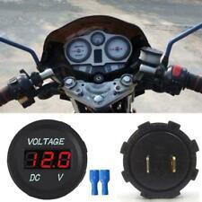 12V 24V Voltage Meter Car Marine Motorcycle LED Digital Voltmeter Gauge A1F3