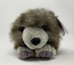 "Puffkins Spike Porcupine Bean Bag Plush Stuffed Animal Toy Swibco Gray Brown 4"""