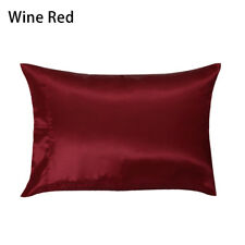 Pure Silk Pillow Cases Cushion Covers Pillowcases Standard Queen Solid Colors