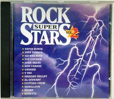 Rock Super Stars Vol. 2 David Bowie Tina Turner John Miles Roxett CD Sampler TOP