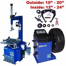 1.5 HP Automatic Tire Changer Wheel Changers Machine Rim Balancer 110A 96 Combo