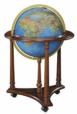 Replogle Lafayette Illuminated 16 Inch Floor World Globe - Blue Ocean