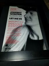 Johnny Winter Illustrated Man Rare Original Radio Promo Poster Ad Framed! #4
