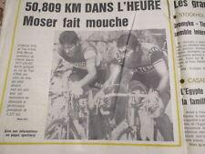 VELO : FRANCESCO MOSER : 50,809 KM DANS L'HEURE : RECORD DE MERCKX BATTU 24/1/84