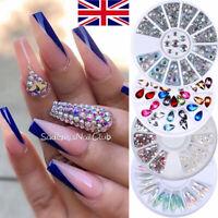 3D Nail Art Rhinestones Wheel Crystals Gems Beads Charms Pearl Glitter Decors
