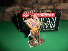 "KING & COUNTRY  REVOLUTIONARY war BR052 WOODLAND INDIAN ""BRAND NEW COAT"""