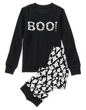NWT/NEW BLACK BOY GYMBOREE HALLOWEEN SHOP BOO TWO PIECE GYMMIES PJ'S PAJAMAS 2T