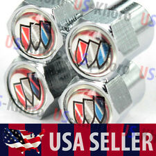 Buick Logo Valves Stems Caps Covers Chromed Roundel Wheel Tire Emblem Truck USA