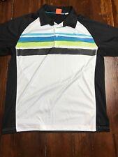 UU26 Mens Puma Golf Polo Shirt White Black Size Large