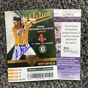 RARE! White Sox Yoan Moncada ROOKIE AUTO SIGNED MLB Debut Season Ticket- JSA COA
