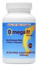 Halal Omega3 Fish Oil Enteric Coated 90 Soft gel Made in USA-Healthy BioVitamin