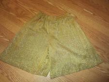 La Costa Spa gold lame shorts Small