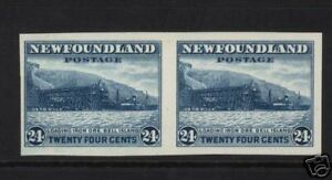 Newfoundland #210a XF/NH Imperforate Pair