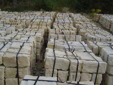 Gelbe Sandstein Mauersteine Quader Trockenmauer