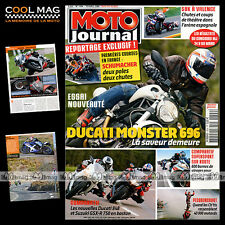 MOTO JOURNAL N°1804 TRIUMPH DAYTONA, DUCATI 848 & MONSTER 696 MICHAEL SCHUMACHER