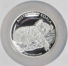 2012 ~999 SILVER~ KOALA ~ HIGH RELIEF ~ 1~OZ ~ NGC~PF~70 ~ ULTRA CAMEO ~ $118.88