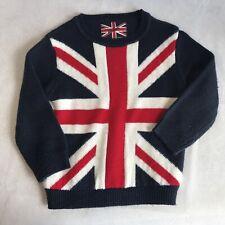 Primark Rebel UK Union Jack Flag Jumper Sweater 4/5 years, 100 cm