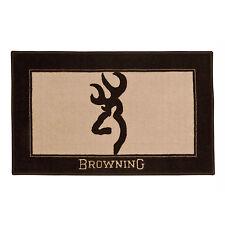 Browning Buckmark 1 Bath Mat Skid Resistant Backing Original Deer Logo Brown/Tan