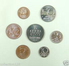 Norway coins set of 7 pieces UNC