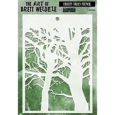 "Brett Weldele Stencil Collection 6.5""X4.5"" - Creepy Trees"