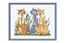 Cross stitch kit Singers (cats)