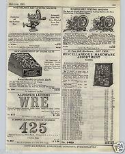 1925 PAPER AD Philadelphia Russwin Key Cutting Machine