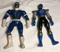 Mighty Morphin Power Rangers Lot Of 2 Action Figures Blue Power Ranger Bandai