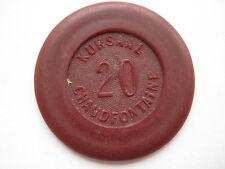 Belgium; Kursaal Chaudfontaine 20 franc casino chip #1