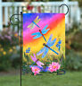 Toland Dusk Dragonflies 12.5 x 18 Bright Colorful Sunset Dragonfly Garden Flag