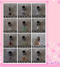 Authentic Pandora Birthstone Charms 790166 February April June November+gift
