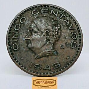 1943-Mo Mexico 5 centavos, Free Shipping  -  #C21000NQ