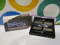 URBAN DECAY ~ DOUBLE DOWN BROW TWO SHADES + TOOLS ~ DARK DRAPES / DARK BROWN