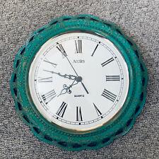More details for *fully working* vintage retro ornate design acctim 30cm quartz wall clock