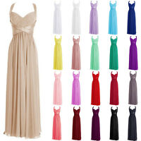 Stock New Long Chiffon Evening Formal Party Ball Gown Prom Bridesmaid Dress 6-18