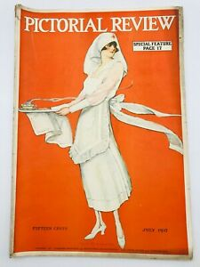July 1917 PICTORIAL REVIEW Magazine Dolly DIngle Paper Dolls Coca-Cola ad
