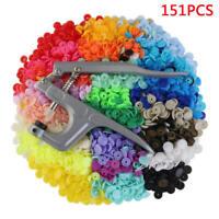 Fastener Snap Pliers KAM Button+150pcs T5 Plastic Resin Press Stud Cloth Diaper