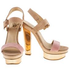 BNIB Red Or Dead New Day Gold Platform Heel Shoes UK 5