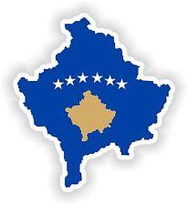 1x STICKER KOSOVO SILHOUETTE BUMPER DECAL MAP FLAG
