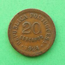 1924 Portugal 20 Centavos SNo56634