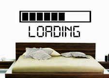 LOADING GAMING GAMER BEDROOM VINYL WALL ART MURAL DECOR RETRO