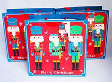Confezione da 3 larghezza Grandi Borse Regalo di Natale Schiaccianoci giocattolo regalo di natale lusso Kids