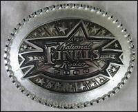 National Finals Rodeo 2000 Las Vegas Belt Buckle Montana Silversmiths Excellent