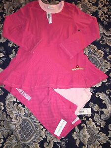 NWT Naartjie Size 8 Pink Spotty Tunic Leggings Stretchy Tilly Cords 3pc Set