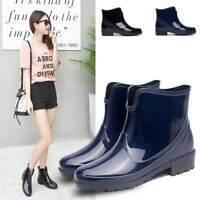 HOT Women's Rain Boots Outdoor Waterproof Short Tube Rubber Shoes Anti-slip BOOT